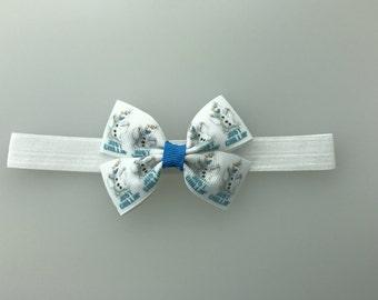 Frozen Olaf hair bow  Headband diff options for headband