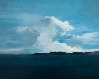Clouds of Light-  Original oil painting on canvas by Lauriann Wakefield  of Bear Lake