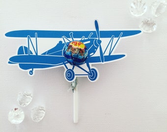 Vintage plane MINI lollipop holders