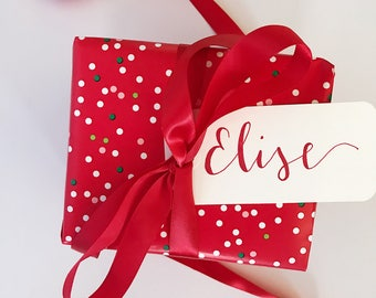 Personalized Holiday Gift Tags | Hand Lettered