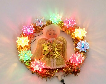 Angel Christmas Tree Topper Vintage Kitsch 1970s