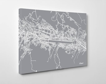 Cusco Street Map Print Map of Cusco Street Map Cusco, Peru Poster Art 7179L