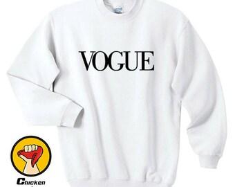 Vogue Hipster Swag Dope Tumblr Gift Men's Women's Unisex Top Crewneck Sweatshirt Unisex More Colors XS - 2XL