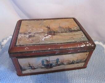 Vintage England metal box