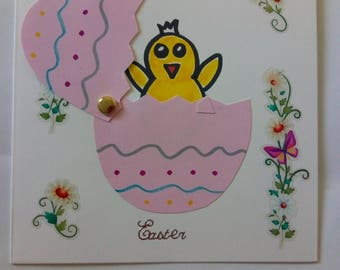 Hatching Chick Easter Card With Envelope
