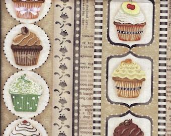 Cupcake Stripe Curtain Valance