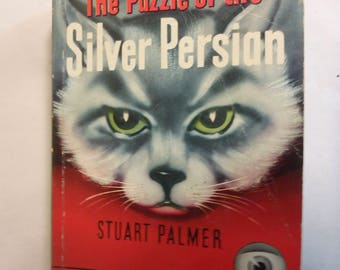 vintage dell paperback the Puzzle of the Silver Persian -1934-VG