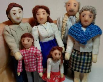 3 Personaggi in legno snodati per dollhouse therapy , diorami, ambientazioni set 3 characters