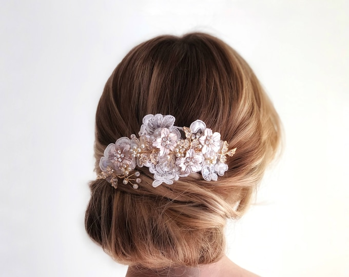 Bridal Lace Comb, Lace hair piece, Floral Wedding Hairpiece, Lace wedding Comb, Lace Hairpiece, Lace Wedding Accessories, Bridal Comb