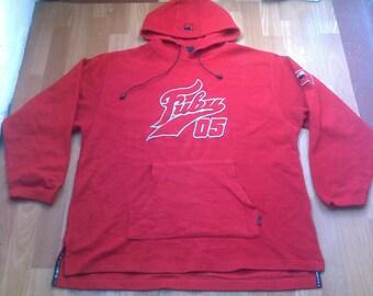 FUBU hoodie, vintage sweatshirt red shirt of 90s hip-hop clothing, 1990s hip hop, gangsta rap, size L Large