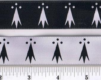 Ermine - Ermines - White & Black Ribbon - SCA Heraldry Trim