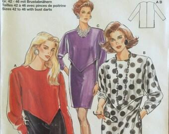 VTG 4689 Burda (1980's). Misses' dress or tunics.  Size 16-18-20.  Complete, unused, FF. Excellent condition.