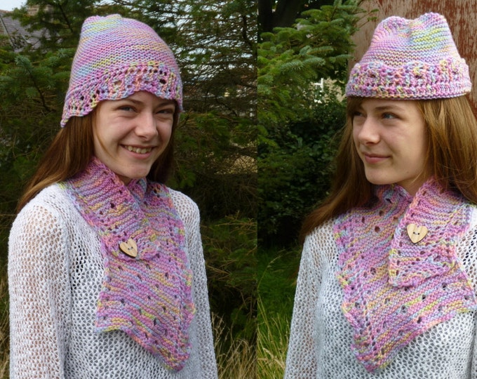 pdf pattern for the Dotty Collar and Hat by Elizabeth Lovick