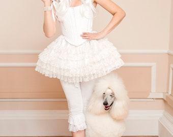 Costume OOAK Marie Antoinette Robe de la Française Undergarments Corset Stays Bustle Skirt Georgian Baroque