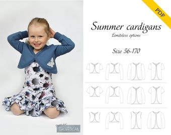 Summer cardigans and boleros 56-170 PDF sewing pattern, instant download, tutorial