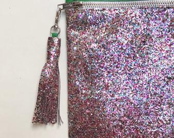 Glitter Clutch - Large - Rainbow/Apple