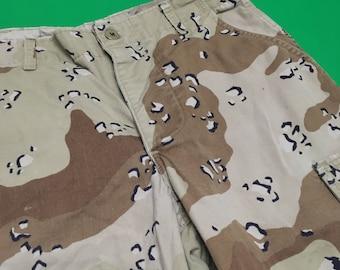 Vintage Army Pants - Vintage Dessert Camo Pants - Camouflage Pants - Army Surplus Pants - Dessert Camo Pants - Grunge Pants - Camo Pants