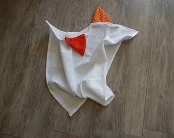 "Cotton gauze Swaddle ""animals"" Fox"