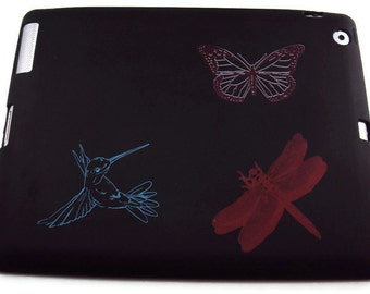Silicone Ipad 2, 3, or 4 Protective Case Butterfly, Dragonfly, Hummingbird Images