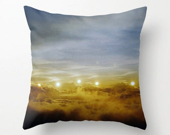 photo pillow cover decorative pillow photography throw pillow cover zen decor. art pillow case. surreal sunset sky hawaii art nursery decor.