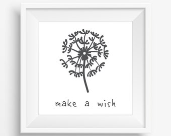Make a Wish gallery wall art print digital download