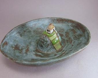 Hilltop Farm...Small Art Plate in Stoneware