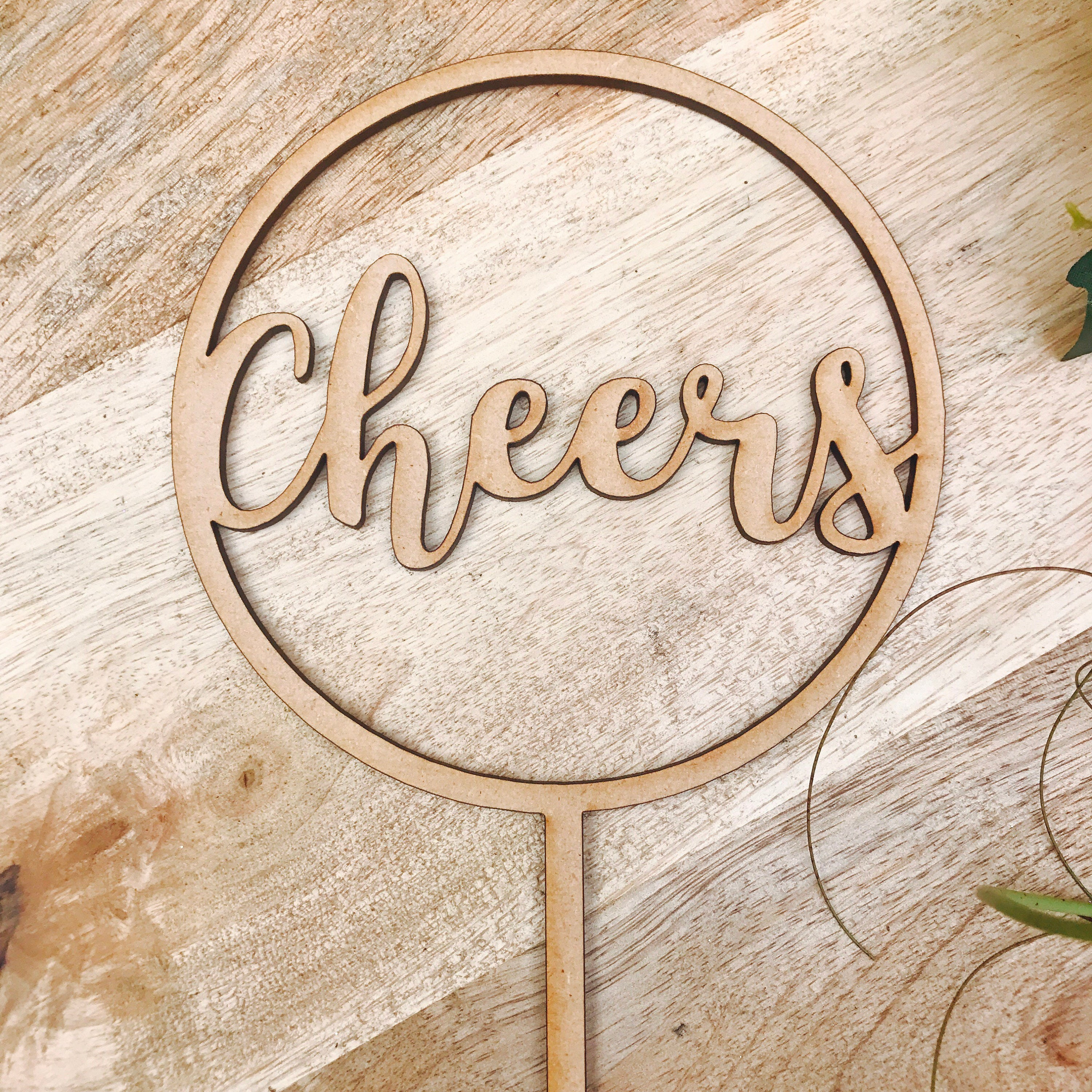 Clearance 1 Only Timber Cheers Cake Topper Birthday Cake Topper