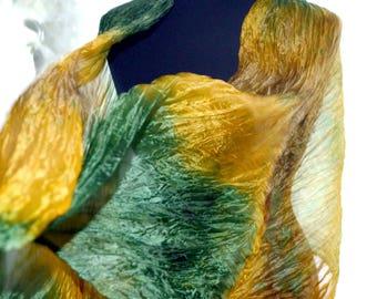 yellov green silk scarf