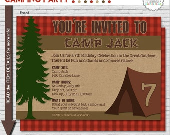 Camping party printables camping birthday party camping camping party invitation camping birthday invitation camping printable invitation campout invitation amandas parties to go filmwisefo