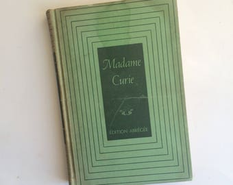 Madame Curie by Eve Curie - 1939 - French Biography - Vintage Books - Hardback - Women In Science - Homeschooling - Historical Nonfiction
