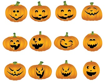 Halloween pumpkins Svg/Eps/Png/Jpg/Cliparts,Printable, Silhouette and Cricut File !!!