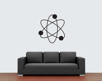 Atomic symbol wall decal