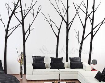 Wall Decal Tree Wall Decal Nursery Wall Decal Baby Wall Decal Winter Tree  Wall Decal Children