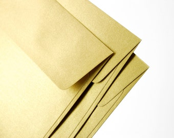 """A7 (5x7) Gold Envelopes - Perfect for 5""""x7"""" wedding invitation and cards (pack of 10 or 20) - The actual size is 5 1/4""""x7 1/4"""""""