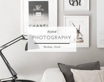 Gallery mockup, frame mock up, white frame mockup, poster mockup, mockup frame, print mockup, digital frame,