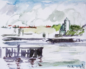 River Tyne 4 Water Colour Printed Cards