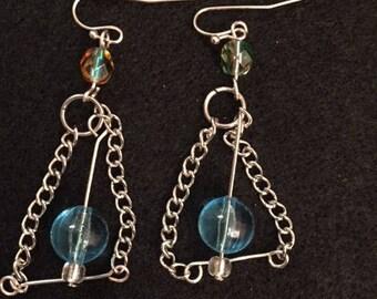 Handmade floating dangle earrings