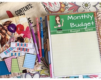 Erin Condren Life Planner Girls Women Full Page Notes Page Sticker - Monthly Budget