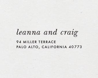 Two Names Return Address Stamp. Self-Inking Stamper. Wooden Mailing Stamp. Custom Address Stamp. Self-Inking Address Stamp. STYLE 65