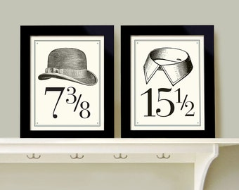 Bedroom Decor Wall Art For Men Set Of Two Prints Shaving Art Bathroom Art  Mens Room