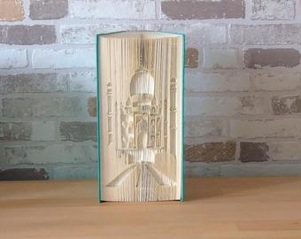 Folded book Taj Mahal//Books//Bookfolding//book folds//Decoration//Love//Friendship//Architecture//India