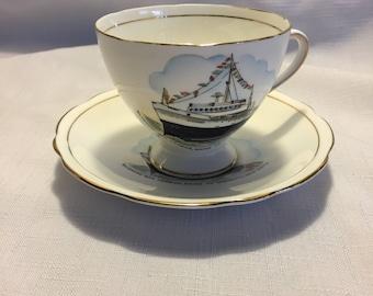 Bluenose Teacup and Saucer