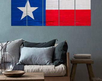 Texas State Flag Canvas, Wall Hanging Art, United States of America, USA Flag, Flags, Nation, America, Home Decor, Wall Art, Panels Art