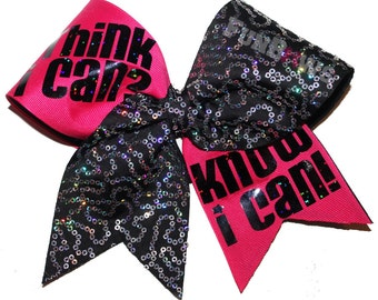Think I Can ? Know I Can! Positive Sayings cheer bow by FunBows !