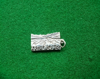 Sterling Silver Charm Or Pendant Arthur's Pass New Zealand.