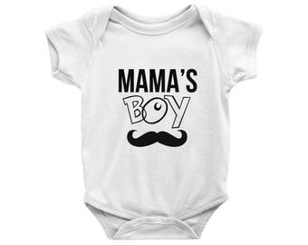 Mama's Boy Onesie, Mama's Boy Bodysuit, Mamas Boy Onezie, Boys Outfit, Funny Outfit, Baby Boy Clothes, Baby Shower gift, Newborn Boy gift