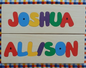 Personalized Name Puzzle 6 or 7 Letter Name, Children Name Puzzle, Name Puzzle, Personalized Name, Personalized Puzzle, Children Puzzle