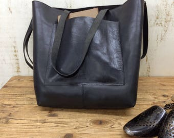 Sale!!!  Large leather shopper bag, Leather market bag, Leather tote bag, Custom leather tote purse, Personalized leather bag Handmade tote