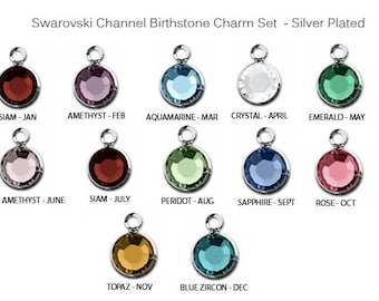 BIRTHSTONE ADD ON Charms.  Add on.  Birthstones