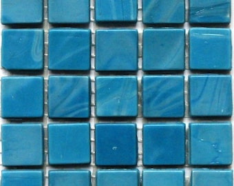 "15mm (3/5"") Turquoise Blue Opaque Matte Glass Mosaic Tiles/Mosaic/Mosaic Supplies/Craft Supplies"